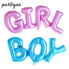 50pcs Link Connect Boy Girl Letter Balloons baby girl boy birthday MINI letter Foil Balloons Baby Shower Party Decor Kids Globos