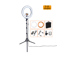 RL-18 55W 5500K 240 LED Photographic Lighting Dimmable Camera Photo/Studio/Phone/Video Photography Ring Light Lamp&Tripod Stand