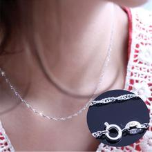 Female Vintage Necklace Wave Chain of High-end Women's Jewelry Silver Jewelry 45CM Dull Silver Tone Brand New and High Quality