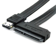 Hot Brand New Dual Power eSATA USB 12V 5V Combo to 22Pin SATA USB Hard Disk Cable 2.77