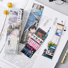 Freeshipping 30pcs Bookmar Street Corner Scenery Sketch Illustration Note 30 Stickers Gift Message Card