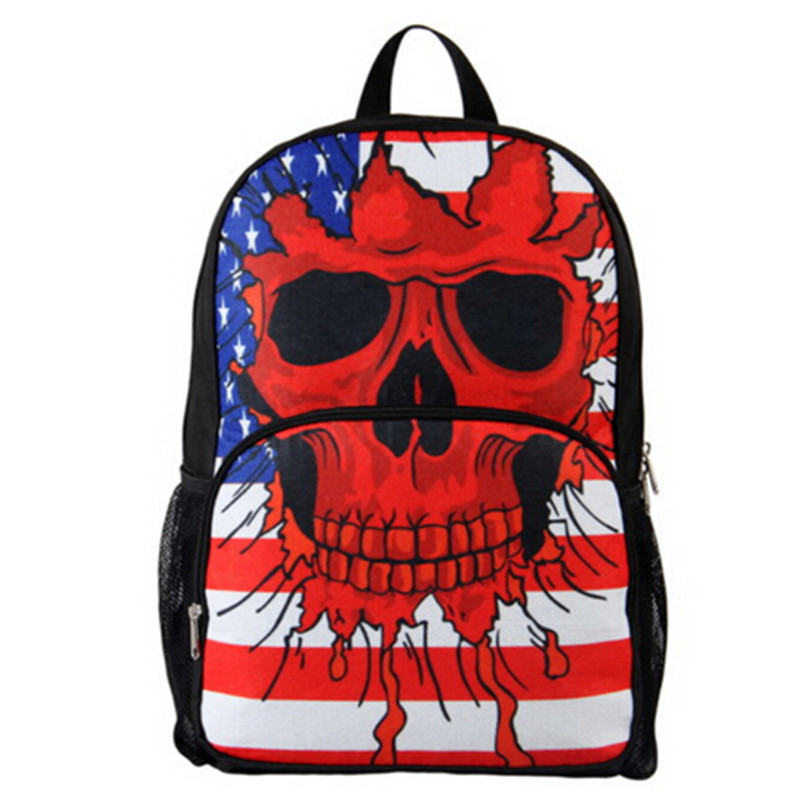 Unisexs 3D Skull Backpack Preppy 2016 New Arrival Monster High Dolls Cheap School Bacpack Fashion Travel Bags<br><br>Aliexpress