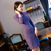 Buy New Arrival Fashion Short Women Cheongsam Dress Chinese Ladies Elegant Qipao Novelty Sexy Dress Size M L XL XXL 3XL F103026 for $44.88 in AliExpress store