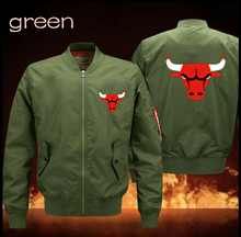 spring men's leisure Chicago  flight  jacket collar code Air Force pilots  NBA star fans ball baseball uniform
