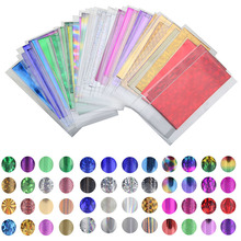 48 Sheet 35cm*4cm Mix Color Transfer Foil Nail Art Star Design Sticker Decal For Polish Care DIY Free Shipping Universe Nail Art(China)