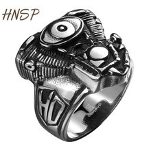 HNSP Punk 100% 316L stainless steel Mechanical ring for men fashion Male jewelry R137