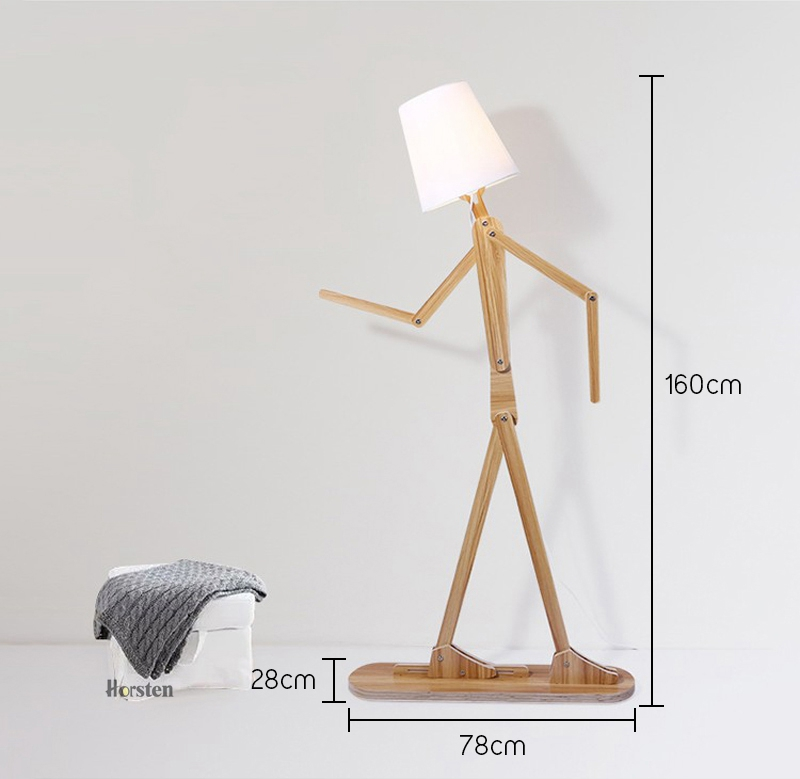 Japanese Style Creative DIY Wooden Floor Lamps Nordic Wood Fabric Stand Light For Living Room Bedroom Study Art Deco Lighting E27 (4)
