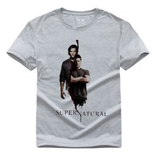 Supernatural Tee tops American Fierce Ghost T Shirts famous Men clothes Sam And Dean winchester T-shirts DIY Custom Tee shirts