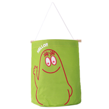 New 7 Colors Pick Lovely Oxford Cloth Receive Bag Cloth Storage Bag Cartoon Wall Hanging Typer Hanging Bags QB679885