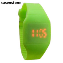 Jimshop Children's Classical LED Fashion Colorful Fashion The Jelly Ultra-Thin Silicone Sport Wrist Watch Freeshipping&Wholesale