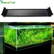 11W Fish Tank Aquarium LED Lighting 50CM-70CM Extendable Frame Lamp SMD 72 Leds White + Blue 2 Modes With EU/US/UK Plug Adapter(China)
