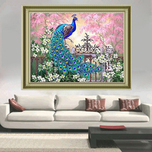 diy 5d diamond painting mosaic landscapes garden Full,Diamond Embroidery peacock Animal Decorative painting,Diamond Painting,