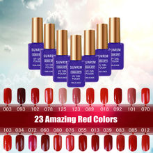 Gel Nail Polish 23 Amazing Red colors Long-lasting Soak-off UV/LED nail lacquer LED UV 15ml 1 pcs Hot Sale Nail Gel(China)