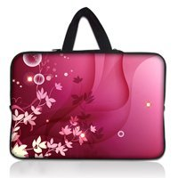 "15"" Hot Pink Style Neoprene Laptop Netbook Soft Case Sleeve Bag Pouch+Hide Handle For 15""-15.6"" ASUS Acer HP Dell IBM Laptop PC"