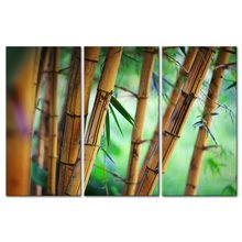 BANMU 3 Pieces Modern Canvas Painting Wall Art The Picture Forest Background Zen Pattern Bamboo Landscape Print On Canvas