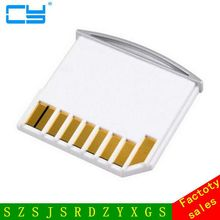 Micro SD TF to SD Card Kit Mini Adaptor for Extra Storage Mac book Air / Pro / Retina White(China)