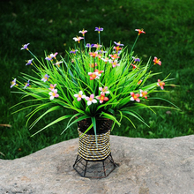 1bouquet Artificial grass clover decorative flower wreaths silk Flowers Fake Leaf Party supplies Wedding event Home Decoration-B