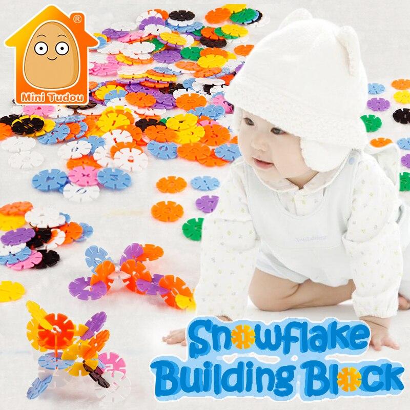 Minitudou Snowflake Building Blocks Plastic Numbers And letters Bricks DIY Kit Educational Toys For Children<br><br>Aliexpress