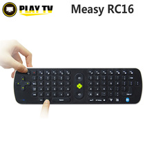 Original Measy RC16 3D+Gyroscope Android Remote Control Bluetooth 3.0 2.4G Mini Wireless Keyboard Fly Air Mouse QWERT 77-Key