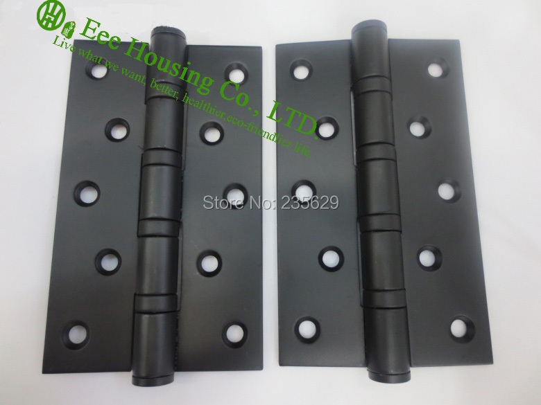 5 inches ball bearing black door hinges, Stainless Steel Hinges for doors, 5 inches black door hinge,Low noise Hinges<br><br>Aliexpress
