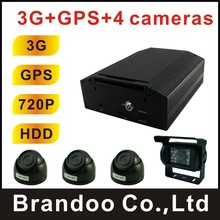 School bus 3G MDVR, with GPS, live video monitoring, real time car position tracking, for bus,truck,long vehicle,train used(China)