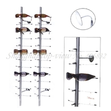 NOC-C-12PC-90CM China Cheapest Without Lock Aluminum Alloy Sunglasses Display Stand(China)