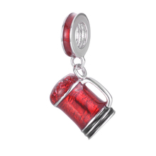 Popular Hiphop Style Enamel 925 Sterling Silver Vacuum Cup Pendant Charm Fitting European Famous Bracelet(China)