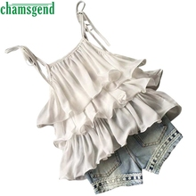 CHAMSGEND Shirt Toddler Kids Baby Girls Chiffon Pearl Vest +Jean Shorts Outfits Clothes Set Best seller Drop ship S30