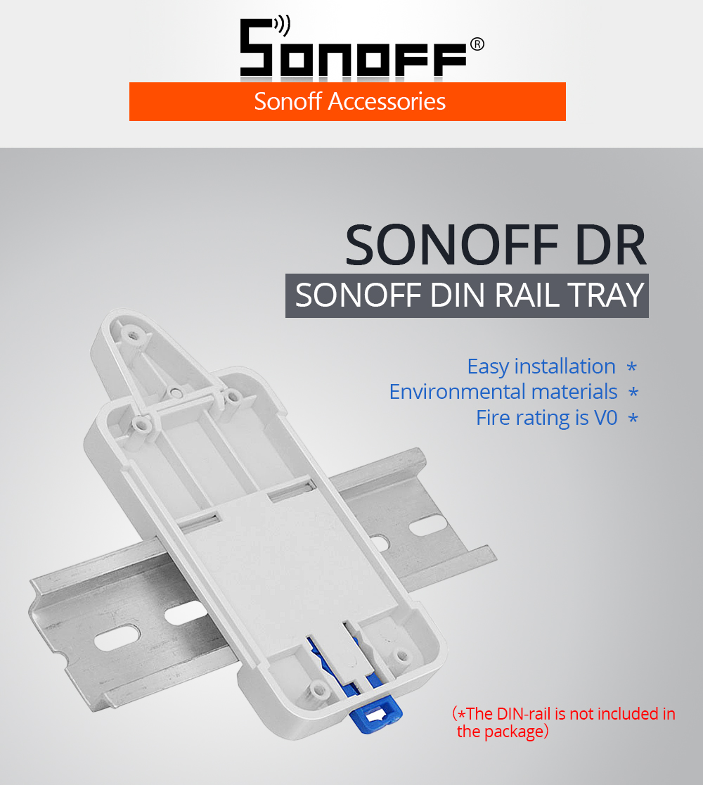 Dr Din Rail Tray Case Mounted Holder Adjustable Cheap Solution Kit Pcb Circuit Board Mounting Bracket For Fst Sonoff Basic Rf Pow Th 10 16 Dual Smart Switch Box 1608 594 01