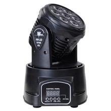 LED Moving Head Mini wash 7x12w RGBW Quad with advanced 14 channels LED effect stage light Factory Price