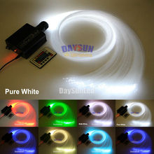 2017 NEW LED Ceiling Light Fiber Optic Star Lamp 16W RGB Light Engine + 24key Remote + 300pcs*0.75mm*2m Fiber Cable(China)