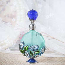 H&D 7ml Vintage Magical Colorful Lampwork Flower Refillable Empty Crystal Perfume Bottle Home Decor Handmade Gift For Women