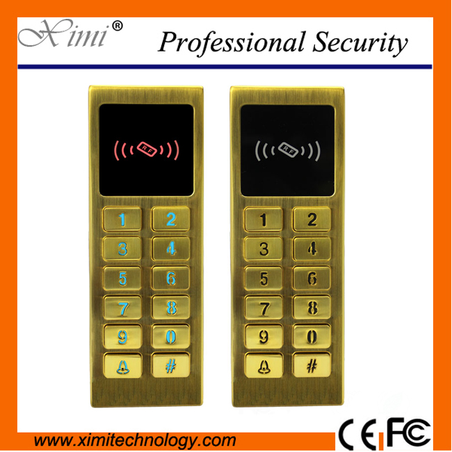 Metal surface waterproof 125KHZ card standalone single door access control without software<br>