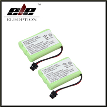 2 pcs New Eleoption BT-909 Battery for Panasonic Uniden Cordless Phone KX-TC1220 KX-TC1230