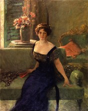 Unframed Canvas Prints - Portrait Of A Lady In Black (also known as Annie Traquair Lang) - By William Merritt Chase(China)