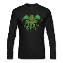 Self Cthulhu Lives Tees Man 100% Cotton Long Sleeves Tees& Tops Men  O Neck shopping t shirts online