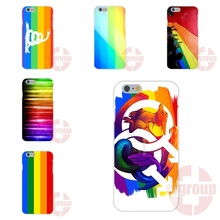 Gay Lesbian Pride LGBT Rainbow Flag Art For Apple iPhone 4 4S 5 5C SE 6 6S 7 7S Plus 4.7 5.5 Soft TPU Silicon Custom Phone