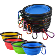 Portable Silicone Pet Feeder Collapsible Easy Take Pets Product Bowls Food Water Feeding Dog Cat Travel Bowl