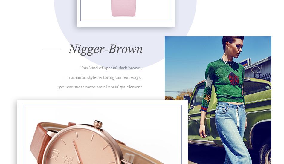 ساعة نسائية حزام جلد أنثى كوارتز الوان جميلة 13