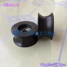U groove ball bearing 0840UU BU0840 608ZZ 608Z 608 window and door bearing 8x40x20.7mm Guide Pulley Sealed Rail(China)