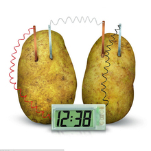 funny educational DIY material for children kids Potato Clock Novel Green Science Project Experiment Kit Lab Home School Toy