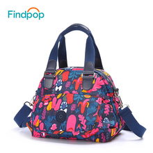 Findpop Brand Women's Handbag 2017 New Fashion Print Shoulder Bag Women Messenger Bag Canvas Waterproof Bolsos Mujer Monkey Bag(China)