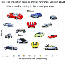 Cheap Good Quality PVC Wall Stickers Car Model Removable Decals Nursery Kids Room Home Decoration For Boys Bedroom