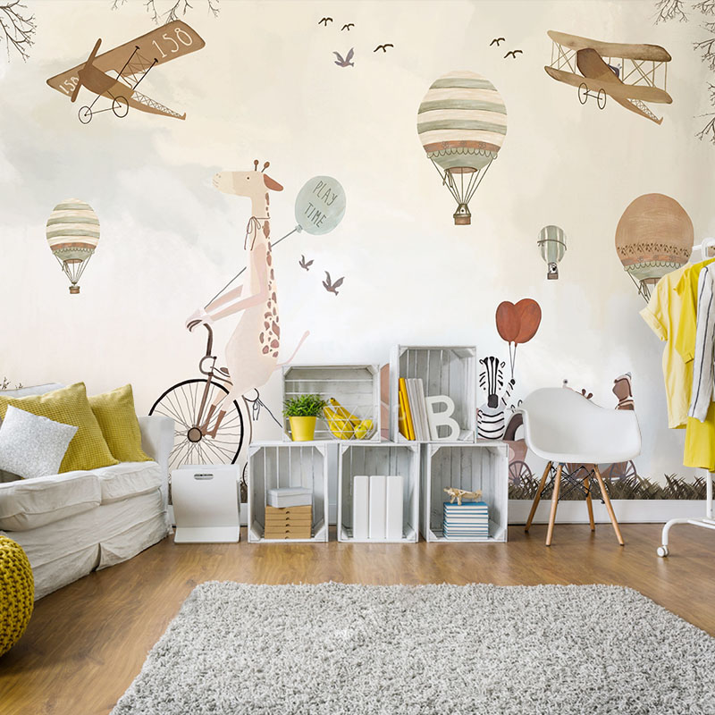 wholesale light cream kidslike freedom fly mural wallpaper decoration for kids room nursery room  free shipping discount<br><br>Aliexpress