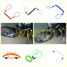 Black Red Orange Green Blue Motorcycle Disc Lock Security Reminder Cable 150cm Anti Thief Scooter Bike Spring Cable