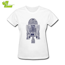 Aztec R2 Star Wars Woman T Shirt Home Wear Exercise Loose Tops Women's Summer O Neck Tee Teens Latest Unique Tee Shirt