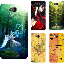 Original Mobile Phone Case For Microsoft Nokia Lumia 650 Cute Girl Print Back Cover Painting Protective Capa High Quality Shell(China)