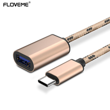 FLOVEME USB Type C OTG Data Adapter Cable For Xiaomi 4S 5 For Huawei Mate 9 P9 USB 2.0 To USB Cable Converter For Huawei Xiaomi(China)