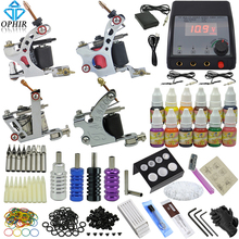 OPHIR Professional 354pcs/set Tattoo Kit 4pcs Tattoo Machine & 12 Color Tattoo Ink & 50pcs Needle Tattoo Nozzle Grip Set _TA090(China)