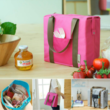 Large Capacity Portable Leisure Cooler Bags 4 Colors Nylon Ice Bags Food Lunch Bag Picnic Organizer Sorting Storage Handbag